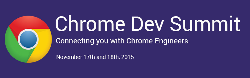 chrome dev summit 2015 logo